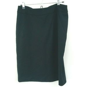 NWT! Adrienne Vittadini Black Career Pencil Skirt